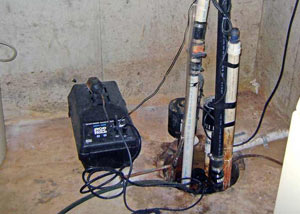 Pedestal sump pump system installed in a home in Euless