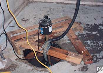 A Euless sump pump system that failed and lead to a basement flood.