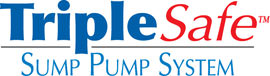 Sump pump system logo for our TripleSafe™, available in areas like Frisco